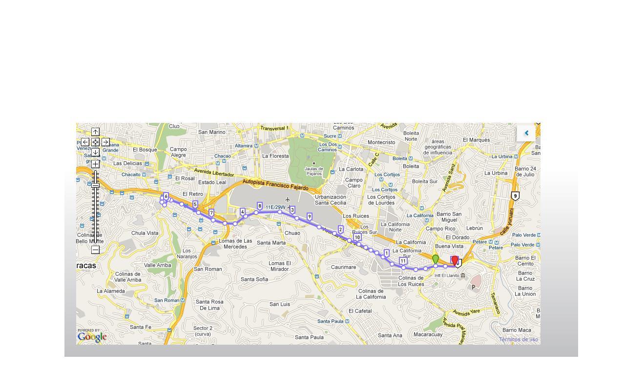 Ruta  SoyMaratonista: 12 K en Av. Río de Janeiro (Caracas)