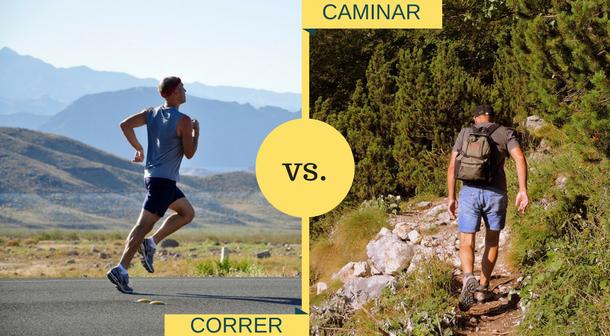 Principales diferencias entre correr y caminar