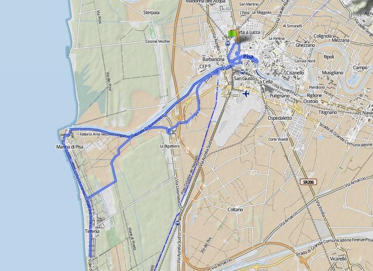 maraton pisa 2012 ruta