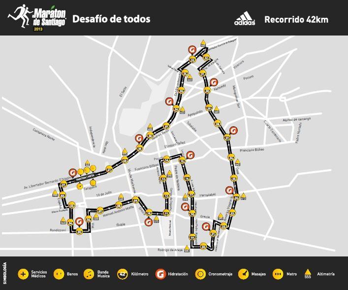 recorrido santiago 2013 42K