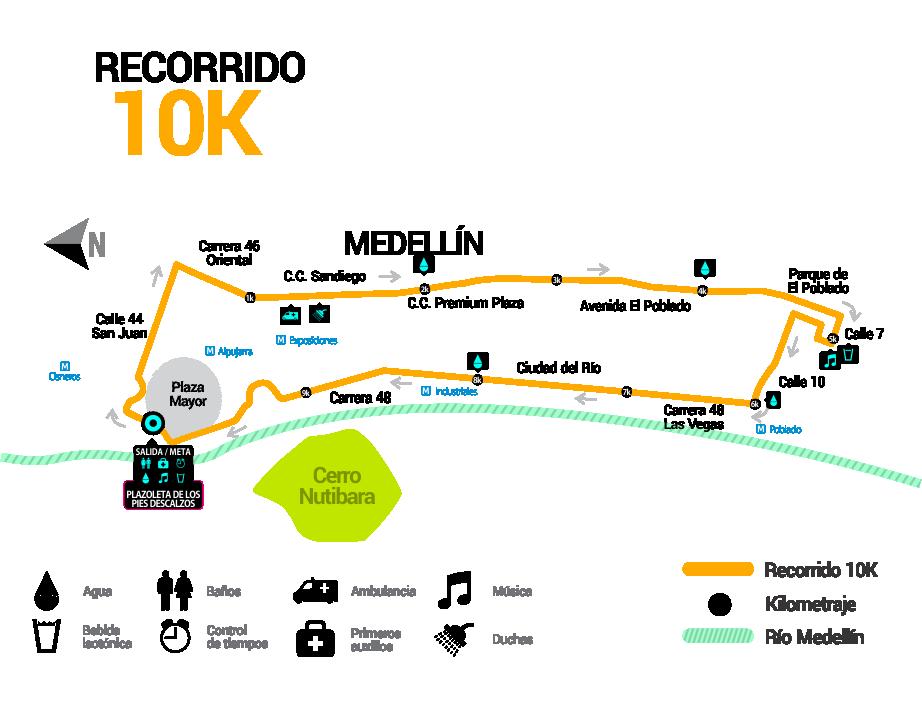 Las Flores 10K ruta