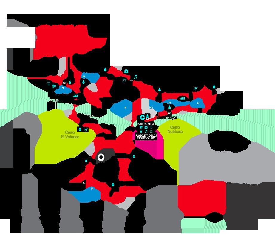 Las Flores 21K ruta