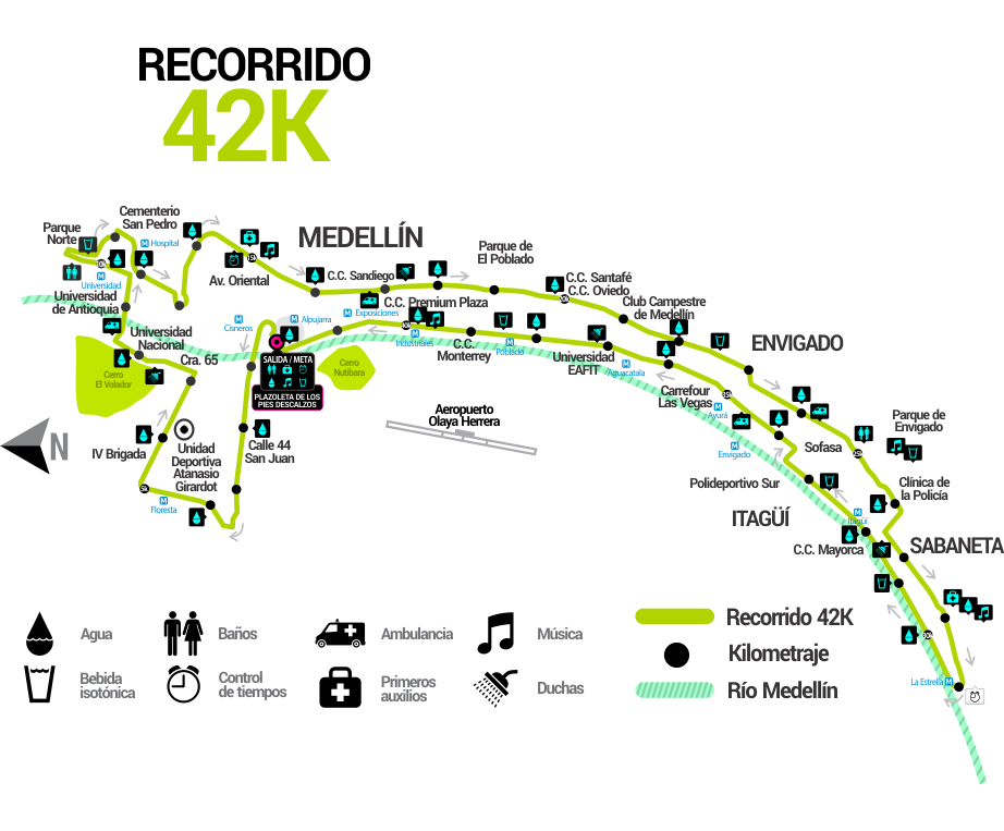 Las Flores 42K ruta