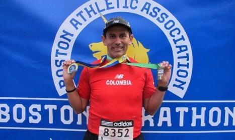 Los colombianos en el Maratón de Boston