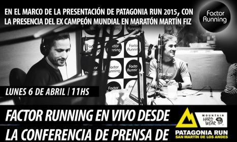 Factor Running en vivo desde la presentación del Patagonia Run 2015