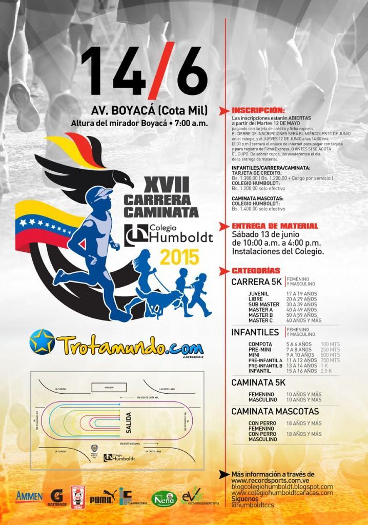 Afiche carrera-caminata C.H 2015