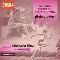 #CorroLejosDelCancer Marisela Díaz