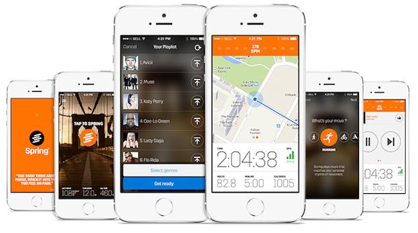 Spring App música para correr que se ajusta a tu cadencia