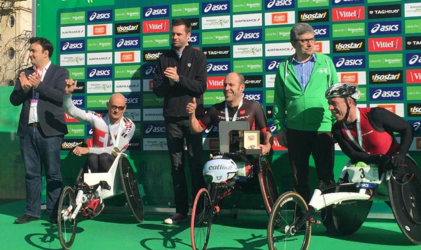 maratón paris 2016 sillas de ruedas