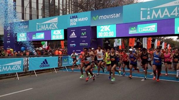 Nuevo récord de ruta para maratón Lima 2016 (Pe)