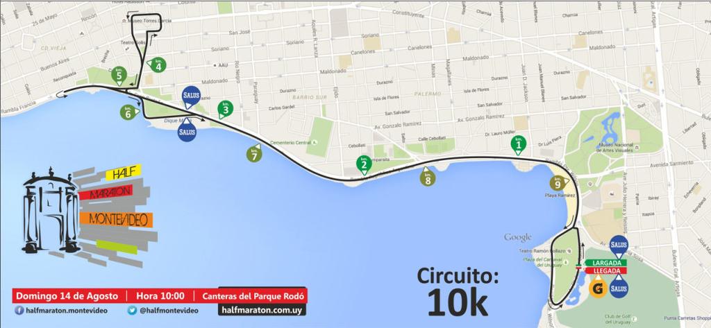 Circuito 10k half maraton montevideo