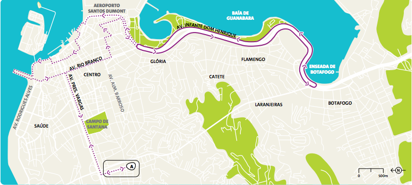 Ruta Maratón olimpiadas Rio 2016