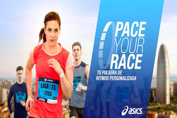 Asics ofrece Pace your Race en el Maratón de Barcelona 2017