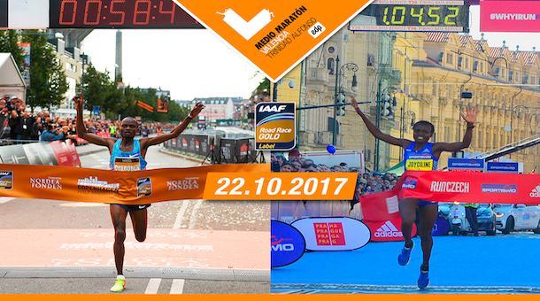Corredores élite medio maratón Valencia España
