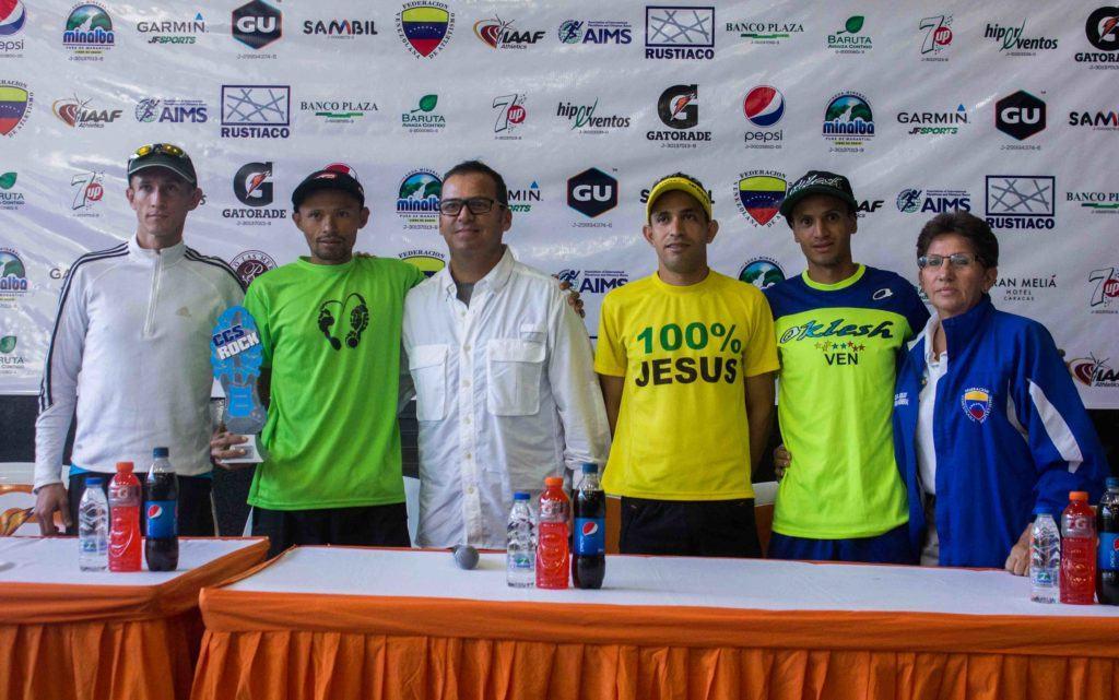 Podio masculino Caracas Rock 2017