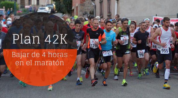 Plan para bajar de cuatro horas en el maratón (16 semanas)