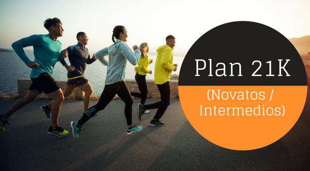 Plan de entrenamiento 21K novatos/intermedios (12 semanas)