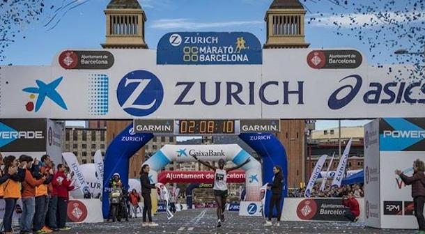 Kenianos dominan en el Maratón de Barcelona 2018