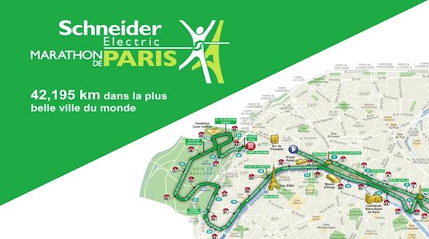 Ruta Maratón de París