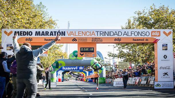 Récord del mundo en el Medio maratón de Valencia 2018 (Esp)