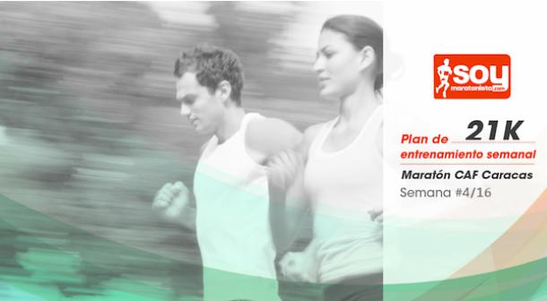 Plan de entrenamiento – Semana 4/16 – Medio Maratón CAF Caracas