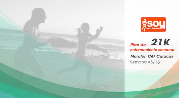 Plan de entrenamiento – Semana 5/16 – Medio Maratón CAF Caracas