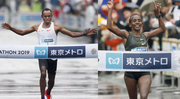 Birhanu Legese y Ruti Aga conquistan el Maratón de Tokio 2019