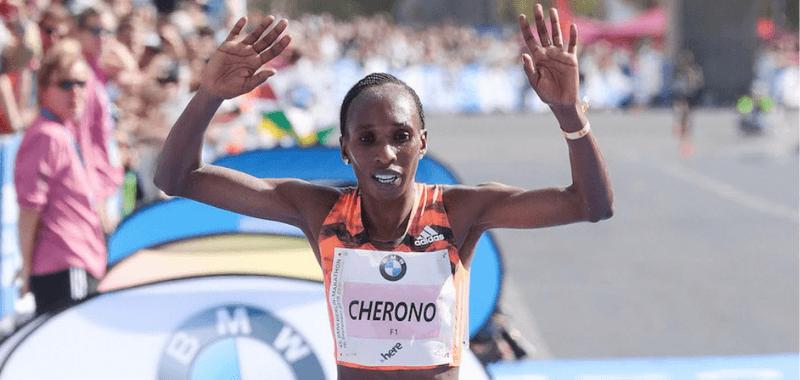 La keniana ganó el año pasado con el récord del circuito (2:18.11)