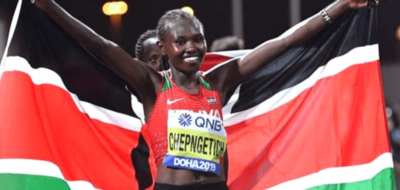 La keniata Ruth Chepngetich