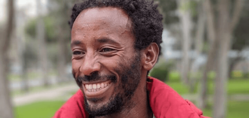 Etíope Mulget Amaru hace su propia cruzada por la paz en continente americano