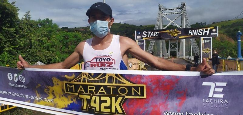 Dídimo Sánchez gana Maratón del Tachira 2020
