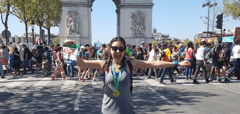 La corredora popular Kely Díaz