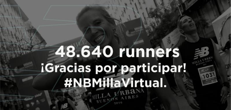 Más de 48 mil corredores se sumaron a la segunda edición de New Balance Milla Virtual