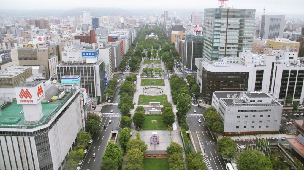 Sapporo Japon Maraton olimpico Parque odori