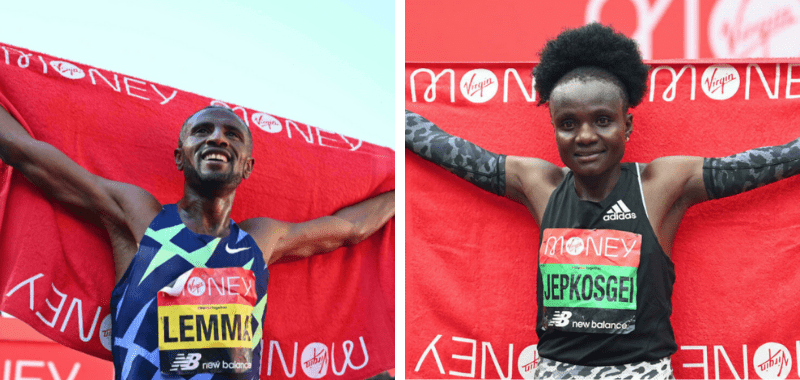 Los ganadores del Maratón de Londres 2021